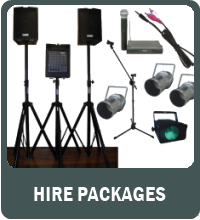 Cairns PA Hire Packages